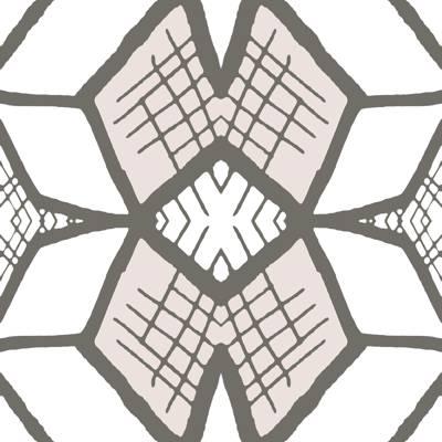 Loneta de Poliester Reciclado PET de 260 gr/m2 - Geometria en tonos pastel con bloques, rombos y estrellas