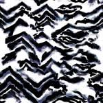 Lycra de Poliester Reciclado de 230 gr/m2 - SEAL - Print animal cebra sobre fondo blanco