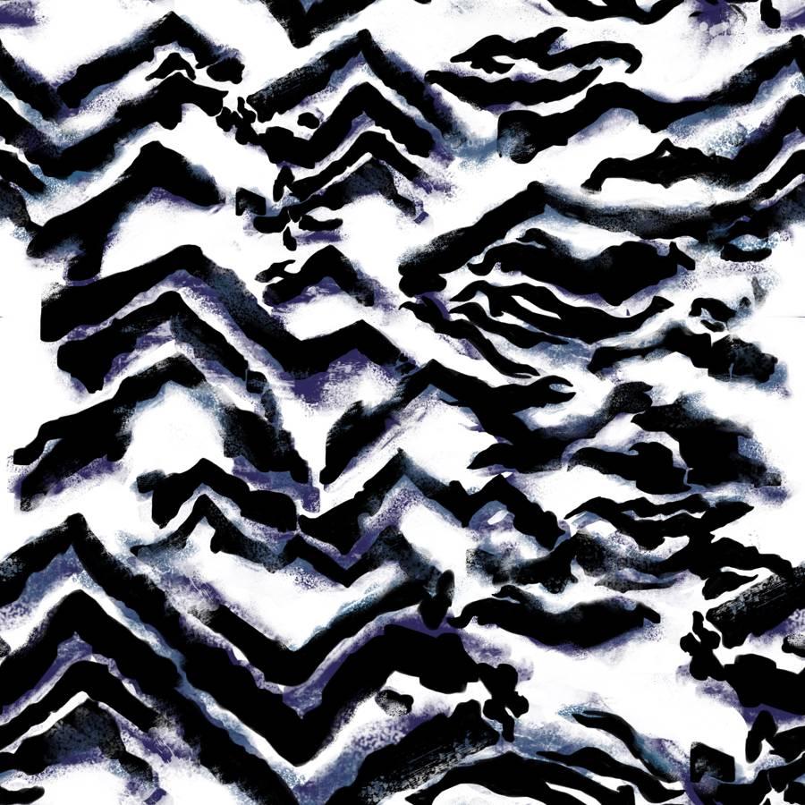 Loneta de Poliester Reciclado PET de 260 gr/m2 - Print animal cebra sobre fondo blanco