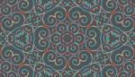 Lycra de Poliester Reciclado de 190 gr/m2 - RECYCLED - Print etnico Simetría floral