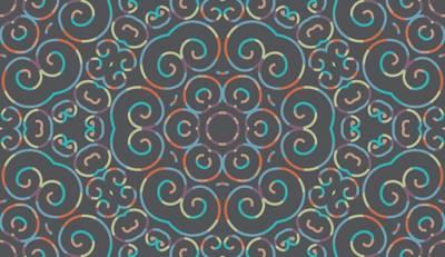 Loneta de Poliester Reciclado PET de 260 gr/m2 - Print etnico Simetría floral