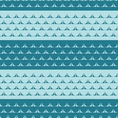 Poliester Reciclado PET de 260 gr/m2 - Estampado mar geometrico