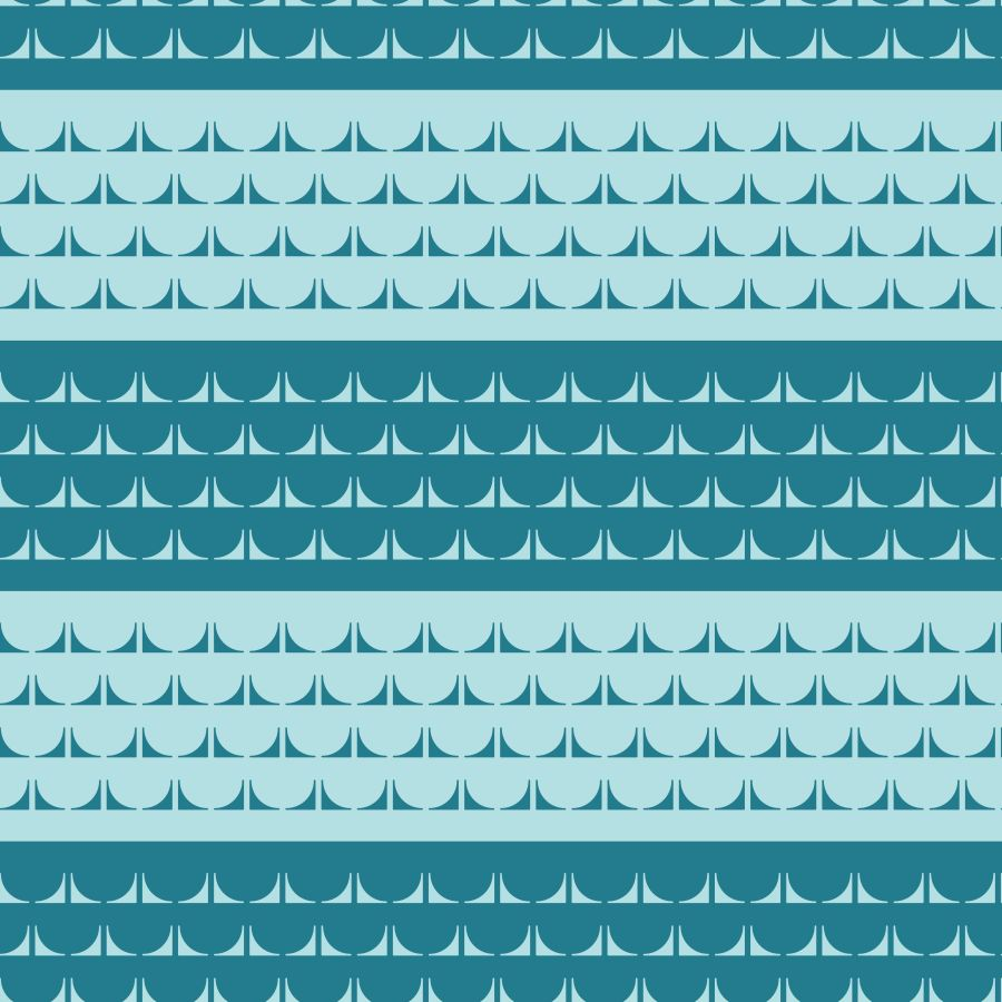Loneta de Poliester Reciclado PET de 260 gr/m2 - Estampado mar geometrico