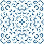 Lycra de Poliester Reciclado de 230 gr/m2 - SEAL - Print etnico Mosaico azul