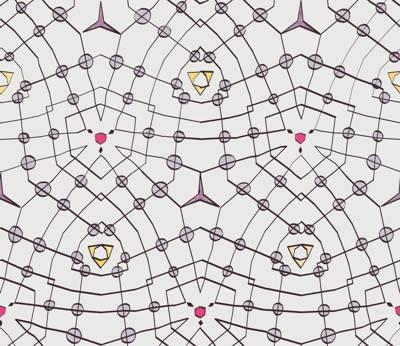 Poliester Reciclado PET de 260 gr/m2 - Mosaico de lineas abstracto