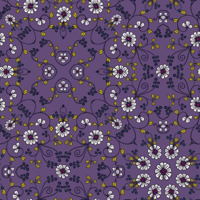 Loneta de Poliester Reciclado PET de 260 gr/m2 - Mandala jardín botanico lila