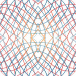 Lycra de Poliester Reciclado de 190 gr/m2 - RECYCLED - Fusion de espirales con rombos ilusion optica