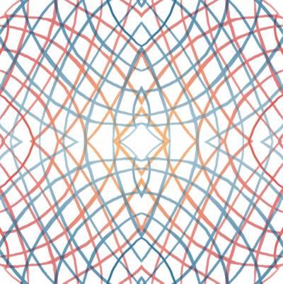 Loneta de Poliester Reciclado PET de 260 gr/m2 - Fusion de espirales con rombos ilusion optica