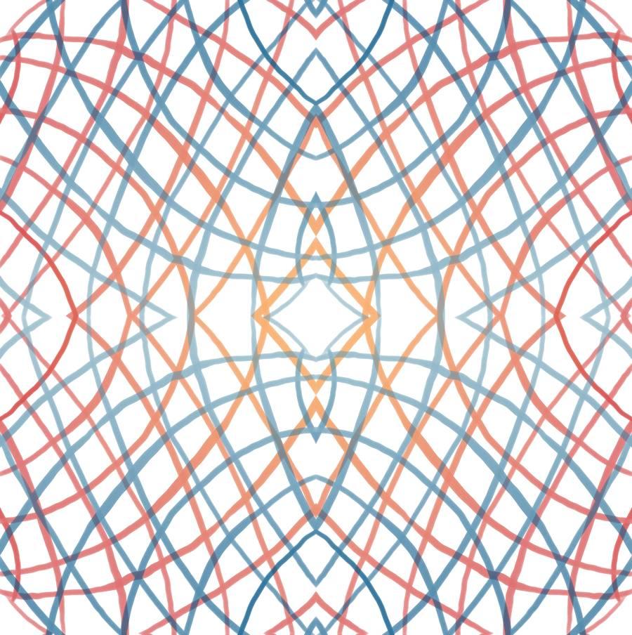 SEAL - Lycra de Poliester Reciclado de 230 gr/m2 - Fusion de espirales con rombos ilusion optica