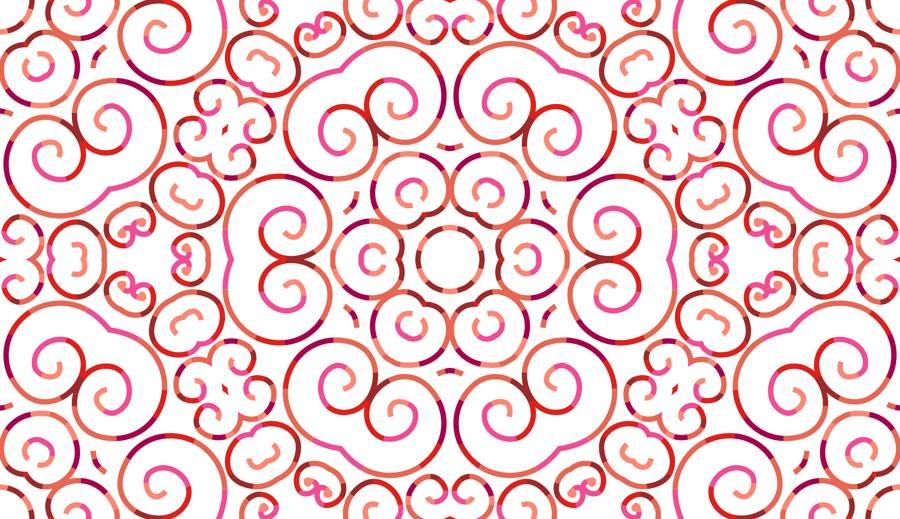Poliester Reciclado PET de 260 gr/m2 - Print etnico Mosaico floral rojo