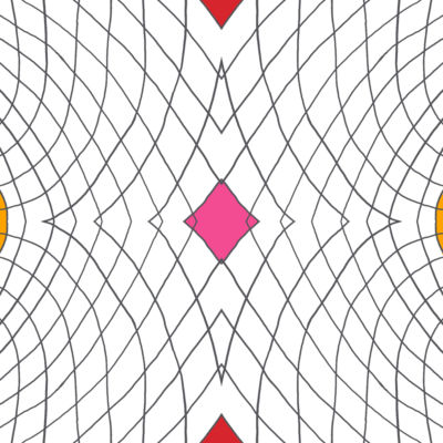 Poliester Reciclado PET de 260 gr/m2 - Geometria de lineas con rombo central rosa