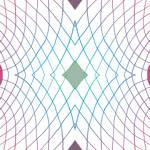 Lycra de Poliester Reciclado de 230 gr/m2 - SEAL - Geometria de lineas con rombo central verde