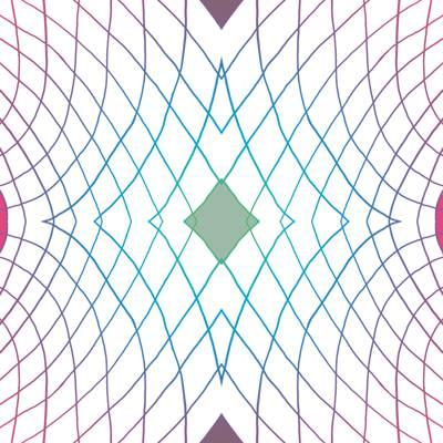 Loneta de Poliester Reciclado PET de 260 gr/m2 - Geometria de lineas con rombo central verde