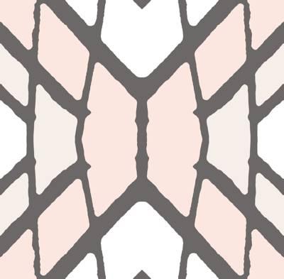 Loneta de Poliester Reciclado PET de 260 gr/m2 - Geometria  en tonos pastel mezcla de rombos y lineas