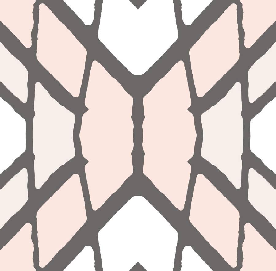 Lycra de Poliester Reciclado de 230 gr/m2 - SEAL - Geometria  en tonos pastel mezcla de rombos y lineas