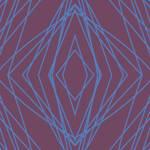 Toalla de Rizo Reciclada - Diseño de rombos concentricos azules sobre fondo granate