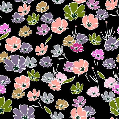 Loneta de Poliester Reciclado PET de 260 gr/m2 - Flores Silvestres