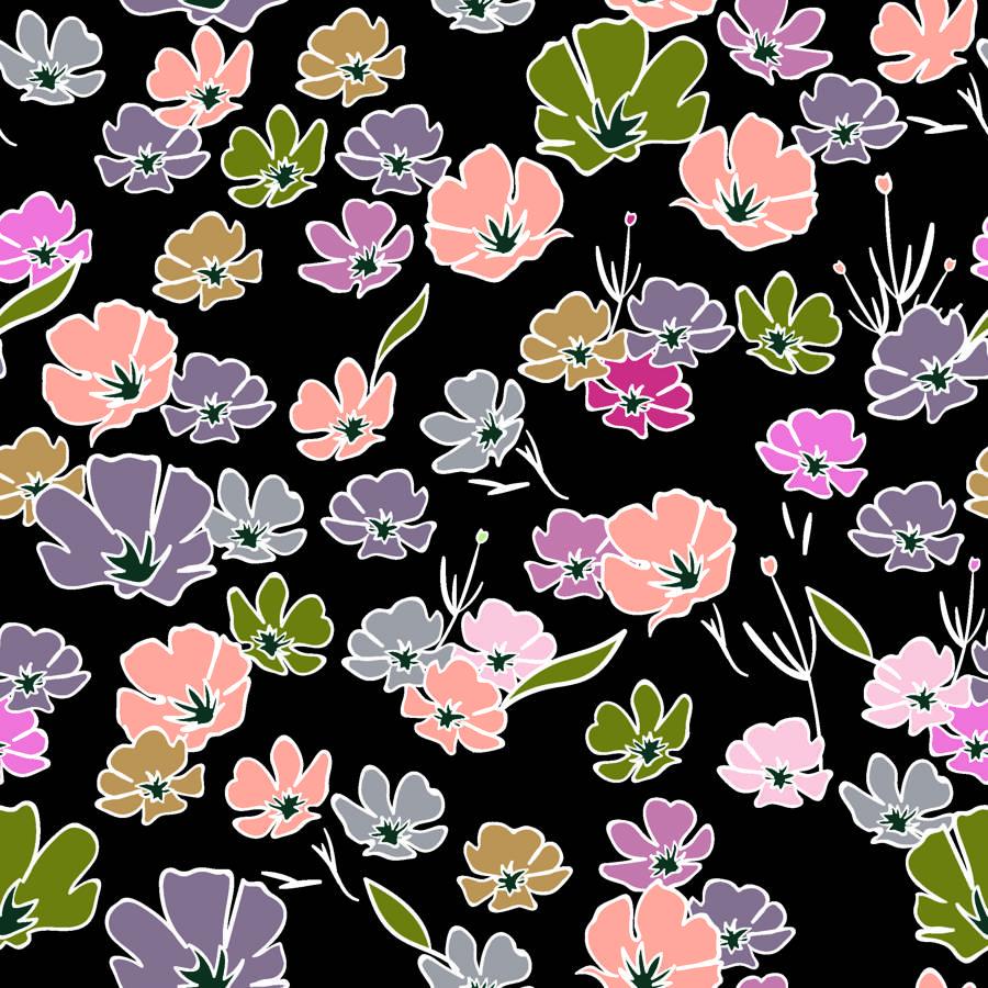 Poliester Reciclado PET de 260 gr/m2 - Flores Silvestres