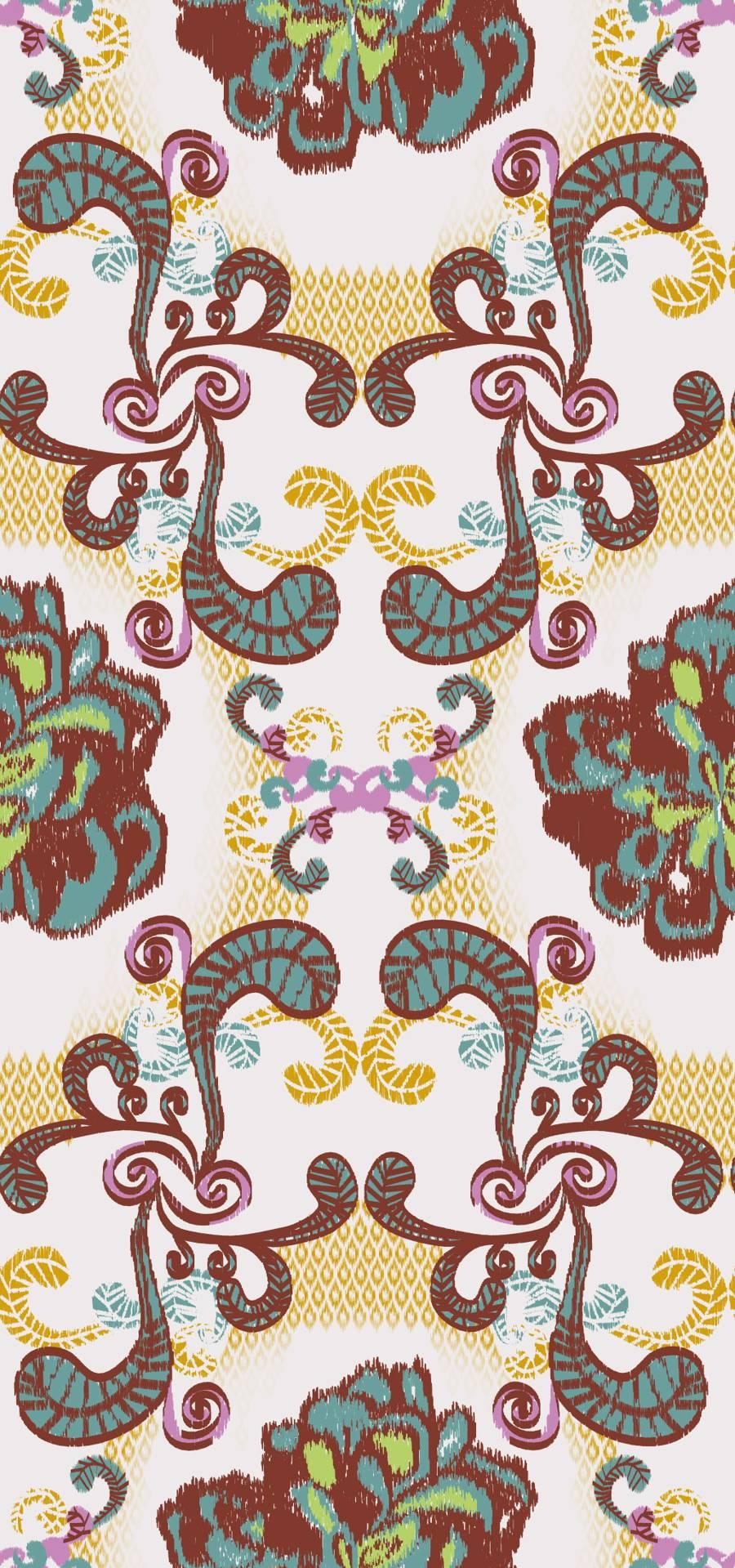 SEAL - Lycra de Poliester Reciclado de 230 gr/m2 - Decorado floral etnico