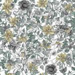 Loneta de Poliester Reciclado PET de 260 gr/m2 - Conjunto de flores vintage