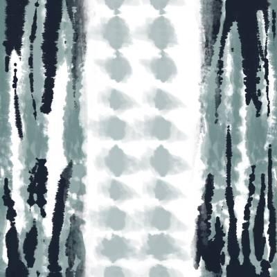 Loneta de Poliester Reciclado PET de 260 gr/m2 - Diseño de pinceladas y manchas con franja ancha