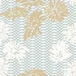 Tela de Microfibra de 110 gr/m2 - Estampado flores blancas y ocres en la Alambra