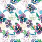 Lycra de Poliester Reciclado de 190 gr/m2 - RECYCLED - Conjunto de flores multicolor