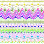 Loneta de Poliester Reciclado PET de 260 gr/m2 - Estampado multicolor inspiracion hippie