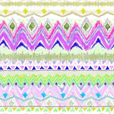 Poliester Reciclado PET de 260 gr/m2 - Estampado multicolor inspiracion hippie