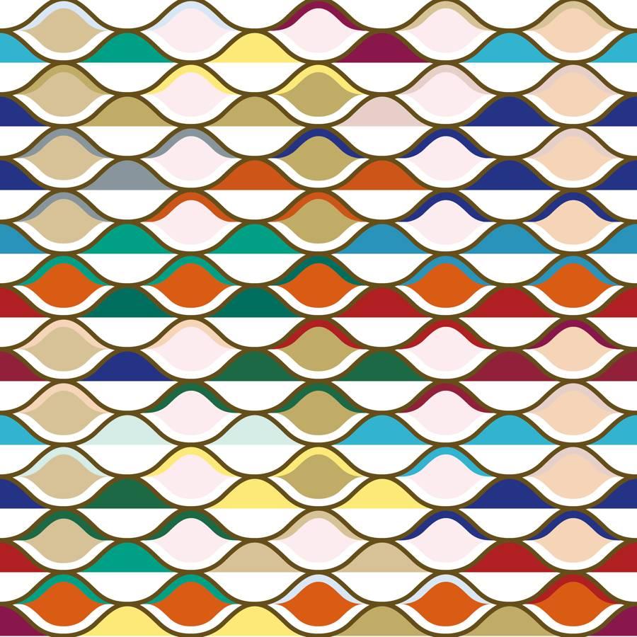 Tela de Microfibra de 110 gr/m2 - Combinado de celdas multicolor