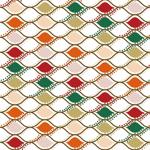 Lycra de Poliester Reciclado de 190 gr/m2 - RECYCLED - Combinado de celdas multicolor con blanco