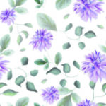 Loneta de Poliester Reciclado PET de 260 gr/m2 - Flores lila