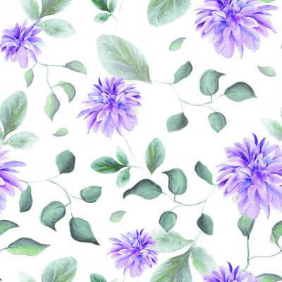 Tela de Microfibra de 110 gr/m2 - Flores lila
