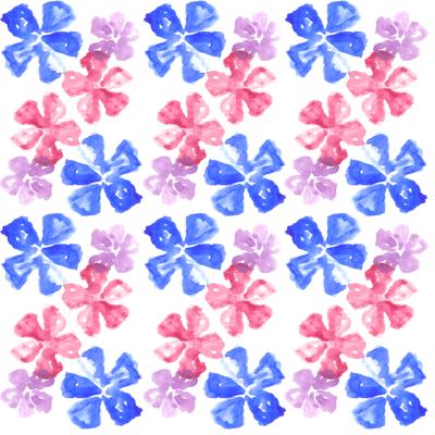 Loneta de Poliester Reciclado PET de 260 gr/m2 - Conjunto floral Lavandas de colores