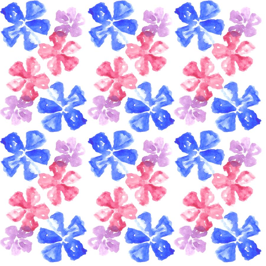 Poliester Reciclado PET de 260 gr/m2 - Conjunto floral Lavandas de colores