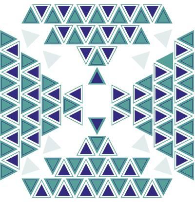 Poliester Reciclado PET de 260 gr/m2 - Estampado etnico con geometria de triangulos