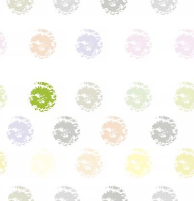 Tela de Microfibra de 110 gr/m2 - Diseño de estampillas multicolor sobre fondo blanco