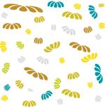 Loneta de Poliester Reciclado PET de 260 gr/m2 - Conjunto petalos multicolores en movimiento