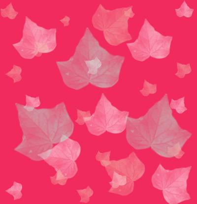 Loneta de Poliester Reciclado PET de 260 gr/m2 - Hojas de otoño transparentes sobre fondo rosa