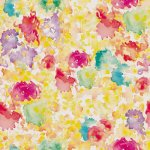 Toalla de Rizo Reciclada - Manchado de acuarela multicolor