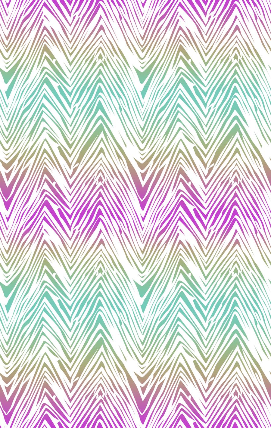 RECYCLED - Lycra de Poliester Reciclado de 190 gr/m2 - Zig zag multicolor