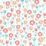 Toalla de Rizo Reciclada - Flores acuarela