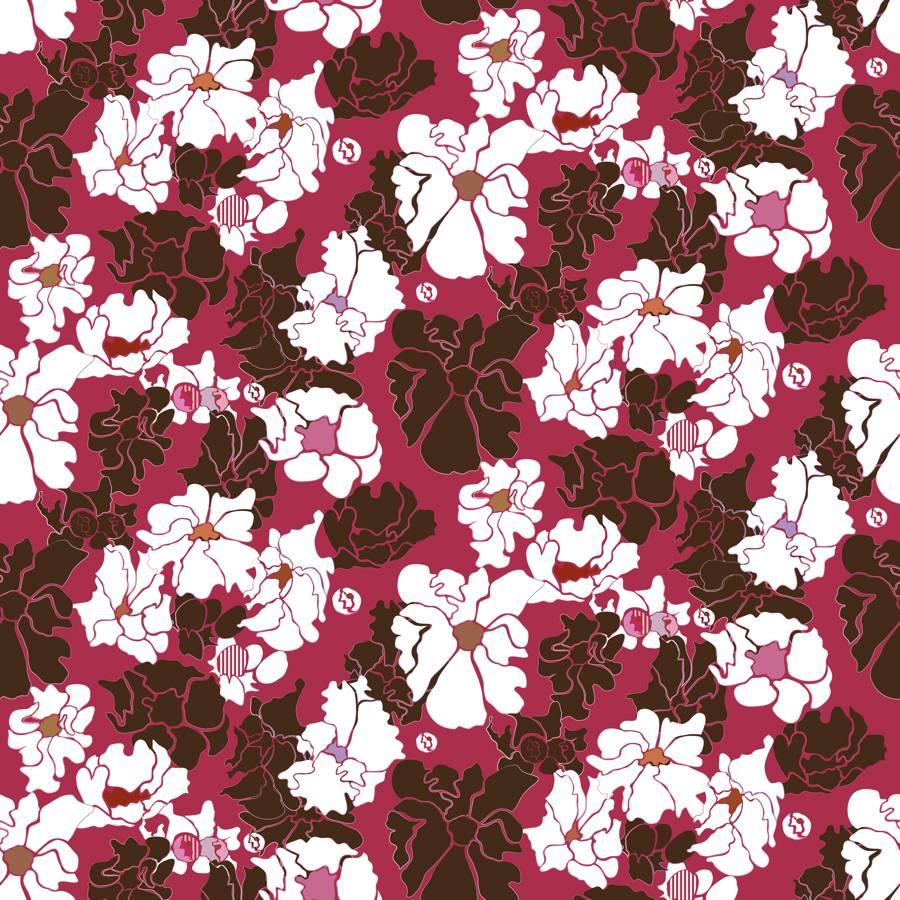 Lycra de Poliester Reciclado de 230 gr/m2 - SEAL - Estampado pasion floral